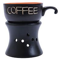 Bộ Quà Tặng Tách Coffee Quai Móc Cam - P01C