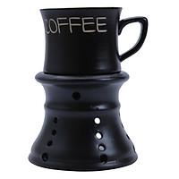 Bộ Quà Tặng Tách Coffee Kèm Chân Đốt Xanh - P02X