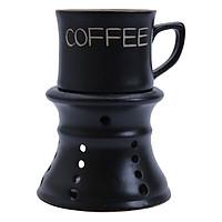 Bộ Quà Tặng Tách Coffee Kèm Chân Đốt Nâu - P02N