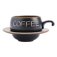 Bộ Quà Tặng Tách Coffee Đĩa Lõm P05N - Nâu