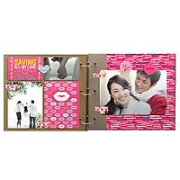 Scrapbook PhotoStory - Nhật Ký Tình Yêu (Bộ Giấy Kraft)