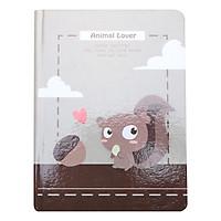 Sổ Vivaone Bìa Cứng 13*18 - Sóc - Animal Lover