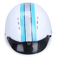 Mũ Bảo Hiểm 1/2 Đầu Protec Arizona Không Kính ALWF Sọc Trắng Xanh (Size L)