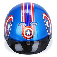 Mũ Bảo Hiểm 1/2 Đầu Protec Kitty KMWF Họa Tiết Captain - Xanh (Size M)