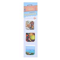 Bộ 3 Bookmark Nam Châm Kính Vạn Hoa - Hội An 1 (Màu)