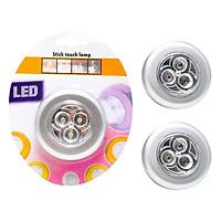 Bộ 3 Đèn LED Dán Tường USA Store (Bạc)