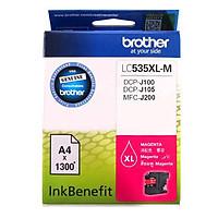Brother LC-535XL M Ink Cho DCP-J100/J105/MFC-J200 (Đỏ) - Hàng Chính Hãng