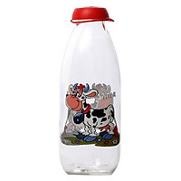 Chai Đựng Sữa Tươi Thủy Tinh HEREVIN Có Hoa Văn 111702 - 1L