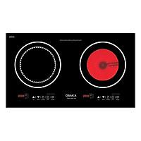 Bếp Điện Đôi Từ Và Quang Osaka DQT100 (2000W) - Hàng Chính Hãng