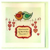Thiệp Giấy Xoắn Việt Net - Love Valentine - I Love You A Lot