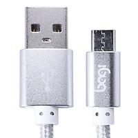 Cáp Sạc Dù Micro USB Bagi (1m) - Bạc - Hàng Chính Hãng