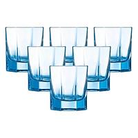 Bộ 6 Ly Thủy Tinh Thấp Luminarc Octime Ice Blue J4389 (300ml x 6)