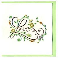 Thiệp Giấy Xoắn Việt Net - Love Valentine - Love Mẫu 1