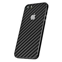 Miếng Dán Mặt Sau Vân Carbon Cho iPhone 5/5S/5SE (Đen) - Hàng nhập khẩu