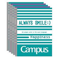 Lốc 5 Cuốn Tập 4 Ly Ngang Campus A5 Emotion (200 Trang)