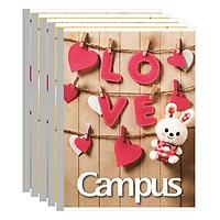 Lốc 5 Cuốn Tập 5 Ô Ly Campus A5 Family (96 Trang) - Mẫu Ngẫu Nhiên