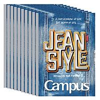 Lốc 10 Cuốn Vở Kẻ Ngang Campus Jean  NB-BJEA120 (120 Trang)