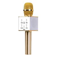 Micro Karaoke Kèm Loa Tuxun Q7 - Vàng - Hàng Nhập Khẩu
