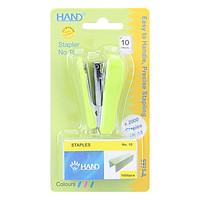 Dập Ghim Mini Số 10 Thân Nhựa Hand S-923A (Kèm 2 Hộp Kim Bấm)