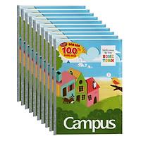 Lốc 10 Cuốn Vở Campus Home Town 4 Ô Ly NB-BHTO48 (48 Trang)