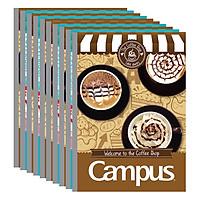 Lốc 10 Cuốn Vở Kẻ Ngang Có Chấm Campus Coffee Shop NB-BCOF120 (120 Trang)
