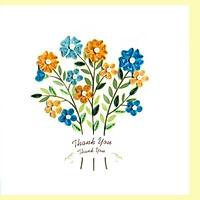 Thiệp Giấy Xoắn Việt Net - Thank You Mẫu 11 (15 x 15 cm)