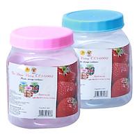 Bộ 2 Hủ Nhựa Vuông Nhựa Tự Lập TL1-6002 (1.2kg / Hủ) - Nhiều Màu