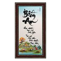 Tranh thư pháp Chữ Bình An (38 x 68 cm) Thế Giới Tranh Đẹp