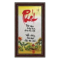 Tranh thư pháp Chữ Phát (38 x 68 cm) Thế Giới Tranh Đẹp