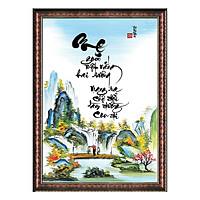 Tranh Thư Pháp TÌNH MẸ (TP_41X56-12) (41 x 56 cm) Thế Giới Tranh Đẹp