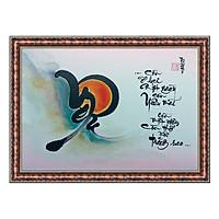 Tranh Thư Pháp YÊU MÃI VỚI TRĂNG SAO (TP_41X56_32) (41 x 56 cm) Thế Giới Tranh Đẹp