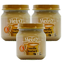 Combo 3 Hủ Custard Vị va-ni-la Heinz (110g)