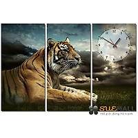 Tranh Đồng Hồ Suemall DV140703 - Hổ Độc Đáo