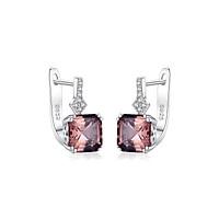 Bông tai Bạc ý 925 hình tròn dáng bông tai bạc s925 đính đá cao cấp thật dáng dài B2390 gồm 2 màu Bảo Ngọc Jewelry