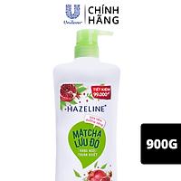 Sữa Tắm Dưỡng Thể Thiên Nhiên Trắng Sáng Da Hazeline Matcha Lựu đỏ Sáng Mịn Rạng Ngời 900g