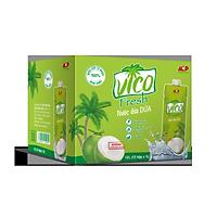 Thùng 12 hộp Nước dừa dứa VICO FRESH (1 lít / hộp)