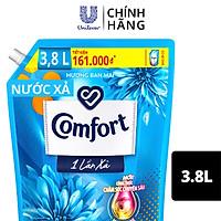 Nước Xả Vải Comfort Giữ Màu & Bền Vải Một Lần Xả Hương Ban Mai túi 3.8L