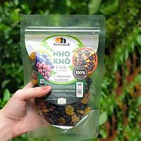 Nho Khô Mix Không Hạt Smile Nuts Túi 250g - Nhập khẩu từ Chile, nho khô hỗn hợp gồm nho đen, nho đỏ và nho vàng (loại không hạt, trái to)