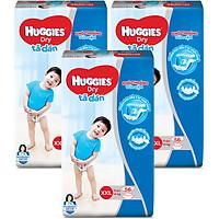 Combo 3 Gói Tã Dán Huggies Dry Gói Cực Đại XXL56 (56 Miếng) - Bao Bì Mới