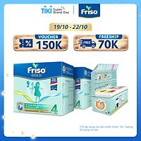 [Mới] Combo 2 Hộp giấy 2 Kg Friso Gold 4 + Hộp đựng đồ chơi cho bé