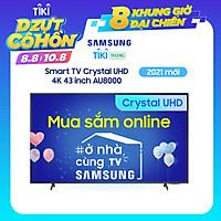 Smart Tivi Crystal Samsung 4K 43 inch UA43AU8000 Mới 2021