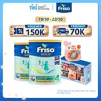 Bộ 2 lon Sữa bột Friso Gold 4 1400g dành cho trẻ từ 2 - 6 tuổi + Tặng bộ đồng chơi máy giặt cho bé