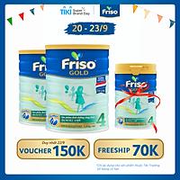 Bộ 2 Hộp Sữa Bột Friso Gold 4 1400g Dành Cho Trẻ Từ 2 - 6 Tuổi + Tặng Lon Sữa Friso Gold 4 380g