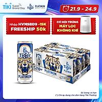 Thùng 24 lon bia lúa mì Tiger Platinum Wheat Lager 330ml/lon