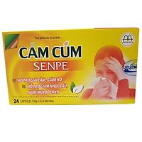 Thực phẩm chức năng bảo vệ sức khỏe: CẢM CÚM  SENPE giảm nhanh các triệu chứng do cảm cúm gây ra,  hỗ trợ Giải cam, Giảm Ho, Hắt hơi, Nhức đầu, Ngạt mũi, Kích thích tiêu hóa,  Nâng cao sức đề kháng