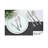 Bộ Dao Muỗng Nĩa Inox 304 Bàn Ăn 6 Món Cao Cấp Kiểu Dáng Cổ Điển Phủ Oxi Berndorf Tablewware Fioreta - Oxidation Of Firenze