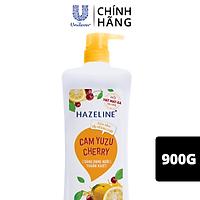 Sữa Tắm Dưỡng Thể Thiên Nhiên Trắng Sáng Da Tẩy Tế Bào Chết Sạch Sâu Hazeline Cam Yuzu Cherry 900g