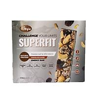 Bánh Ăn Sáng Ngũ Cốc Yến Mạch Và Các Loại Hạt Điều Đậu Phộng Hạt Hướng Dương Hạt Mè Nho Khô – SUPERFIT Chocolate Energy Bar 270gr (Hộp 6 thanh năng lượng)