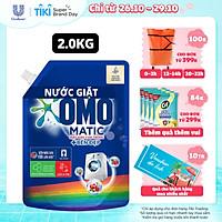 Nước giặt Túi 2.0kg OMO Matic Cho máy giặt cửa trước Cửa Trước Bền Màu Bền màu tinh chất Lựu Tre