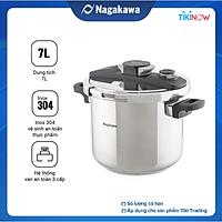 Nồi áp suất cơ đáy từ Nagakawa NAG1472 (7L)